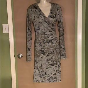 Faux wrap dress